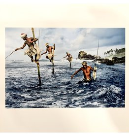 Magnum Fishermen, Weligama, South Coast, Sri Lanka, 1995, by Steve McCurry