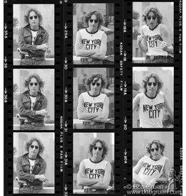 Gruen John Lennon Contact Sheet, NYC 1975 by Bob Gruen