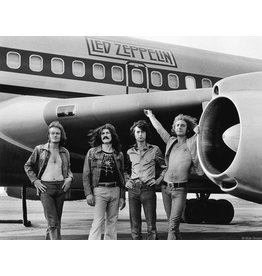 Gruen Led Zeppelin in Front of Plane, NY 1973 by Bob Gruen