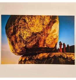 Magnum The Golden Rock Beneath Kyaiktiyo Pagoda, Kyaiktiyo, Myanmar, 1994 by Steve McCurry