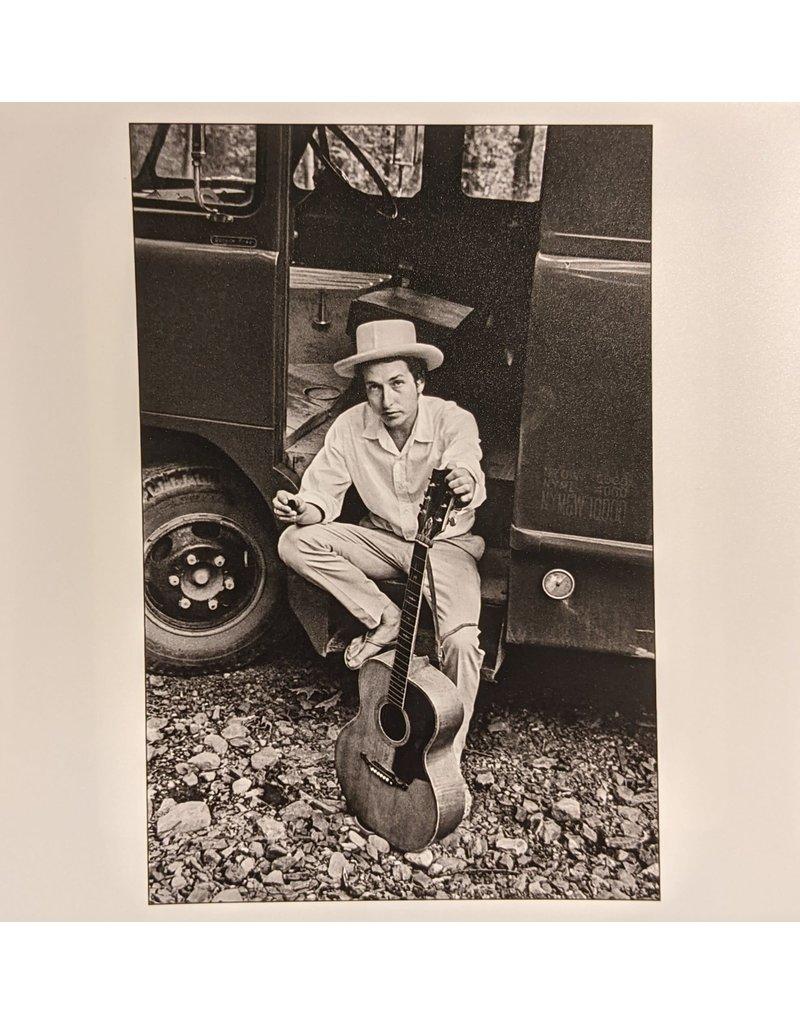 Magnum Bob Dylan, sitting on his equipment truck, Woodstock, New York, USA, 1968 by Elliot Landy