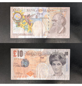 After Banksy Di-Faced Tenner, 10 GBP Note by After Banksy