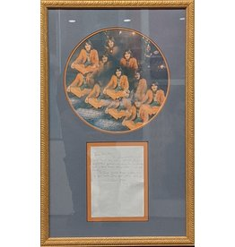 Harrison Hand Written Letter with Signature Framed with Album Cover by George Harrison