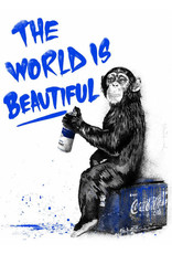 Brainwash The World Is Beautiful (Blue) by Mr. Brainwash