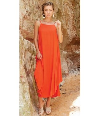 Mud Pie MICHAELA MAXI DRESS ORANGE M