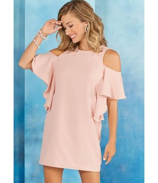 BIRDIE RUFFLE DRESS BLUSH M