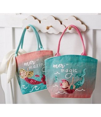 Mud Pie MERMAID SEQUIN BAGS BLUE