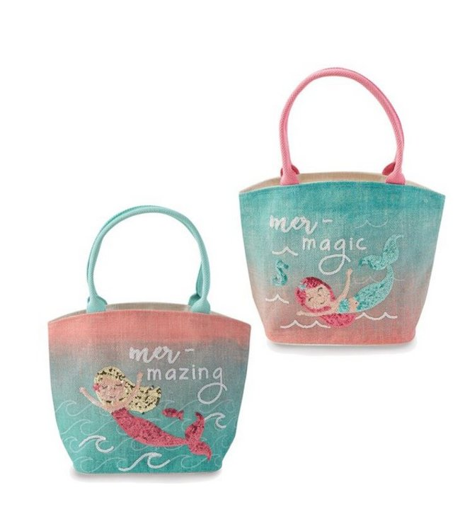Mud Pie MERMAID SEQUIN BAGS PINK