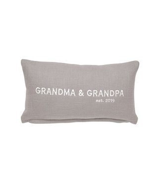 Mud Pie GRANDMA GRANDPA EST 2019 PILLOW