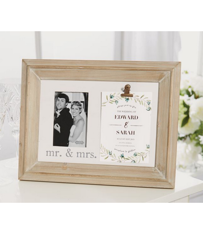 MR AND MRS INVITATION FRAME