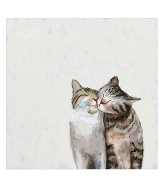 Feline Friends Cat Pair Canvas 10x10