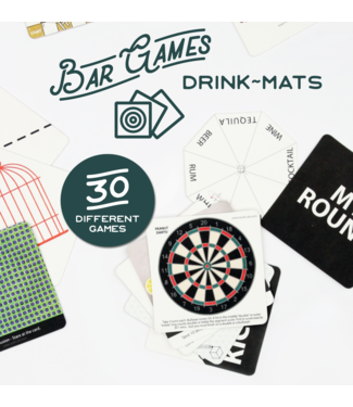 DRINKS MATS BAR GAMES