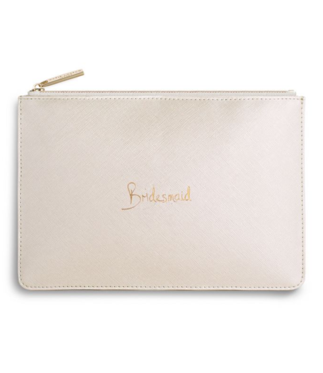 PERFECT POUCH - BRIDESMAID - metallic white - 16x24cm