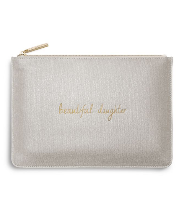 PERFECT POUCH - BEAUTIFUL DAUGHTER - champagne shimmer - 16x24cm