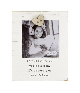 Mud Pie MOM MAGNET WOOD FRAME