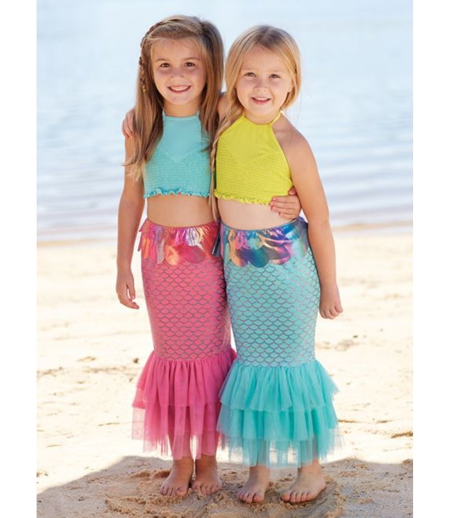 Mud Pie Mermaid Swim Tail Blue