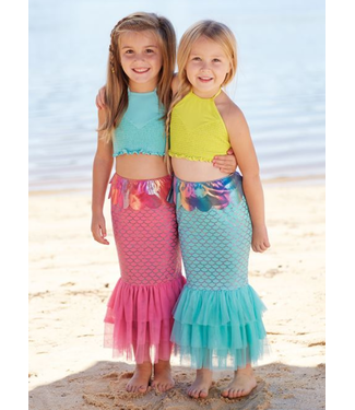 Mud Pie Mermaid Swim Tail Pink
