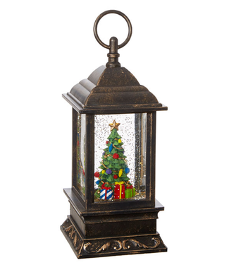 "9.5"" Christmas Tree Lighted Water Lantern"