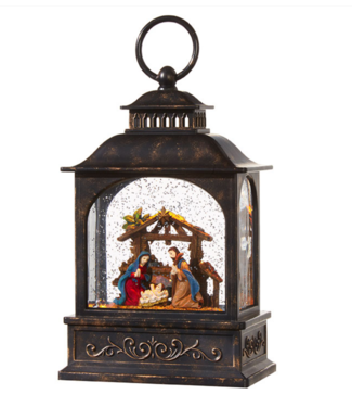 "8"" Nativity Lighted Water Lantern"