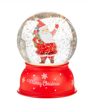 "6"" Santa Lighted Water Globe"