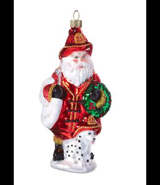 "5"" Santa with Dog Ornament"