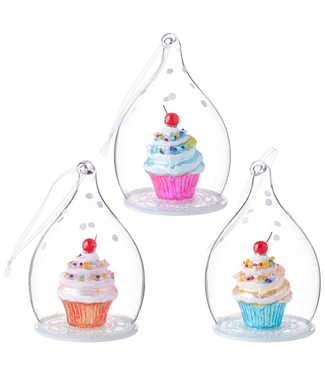 "4.5"" Mini Cupcake in Dome Ornament"