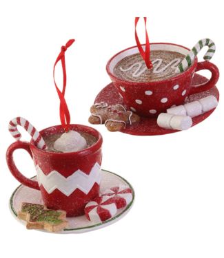 "4"" HOT CHOCOLATE CUP ORNAMENT"