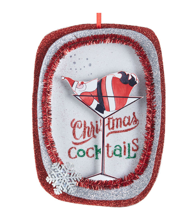 "6"" Christmas Cocktails Ornament"