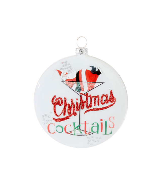 "4"" Christmas Cocktails Ornament"