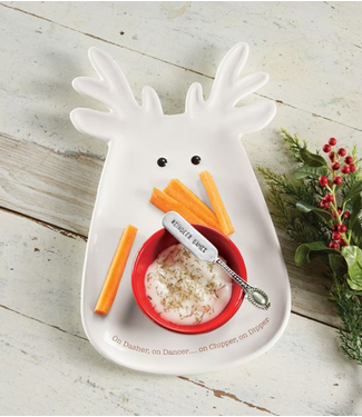Mud Pie REINDEER CHIP N DIP SET