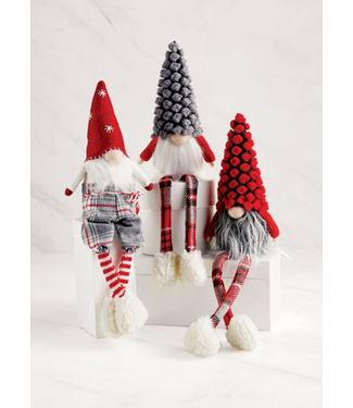 Mud Pie Christmas Dangle Leg Gnome 9""