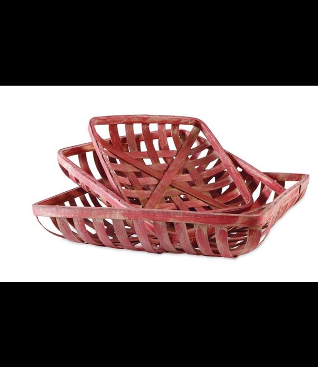 Mud Pie Red Tobacco Basket