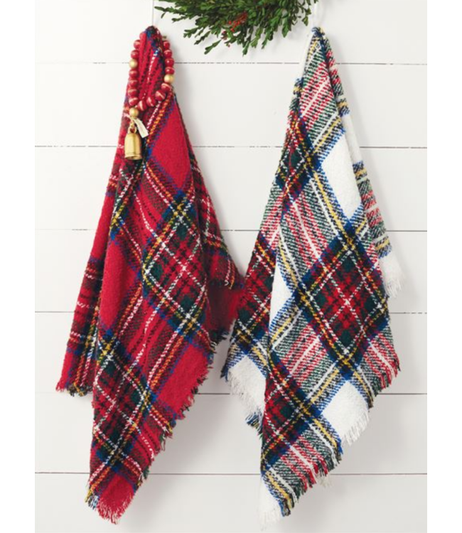 Mud Pie Tartan Boucle Throw