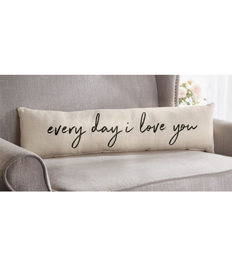 Mud Pie I LOVE YOU Pillow 8x30 ""
