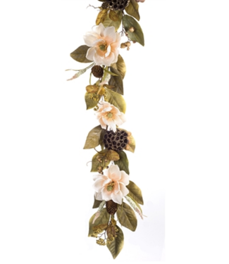 Magnolia/Berry Garland 6'L Polyester