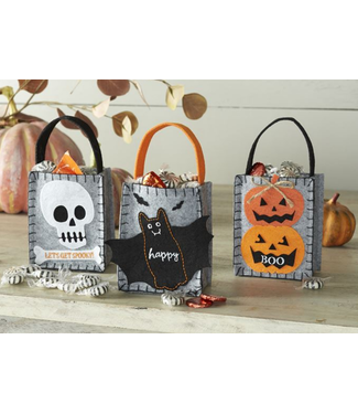 Mud Pie Halloween Mini Felt Bag