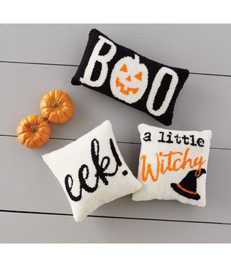 Mud Pie Hooked Halloween Pillow