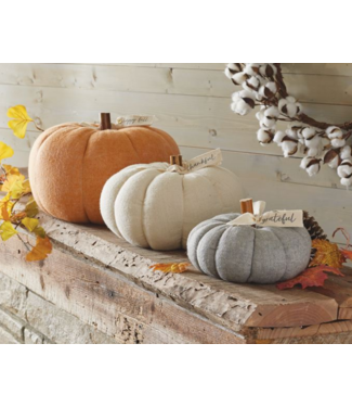 Mud Pie Stuffed Felted Wool Pumpkins