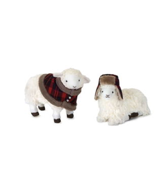 "Sheep 5.5""H, 6.5""H Polyester/Foam"