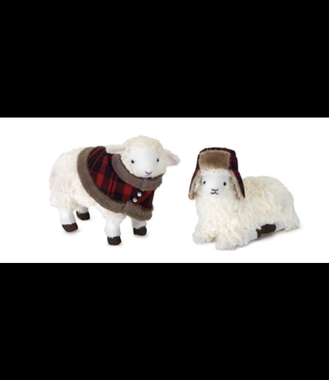 "Sheep 5.5""H, 6.5""H Polyester/Foam"