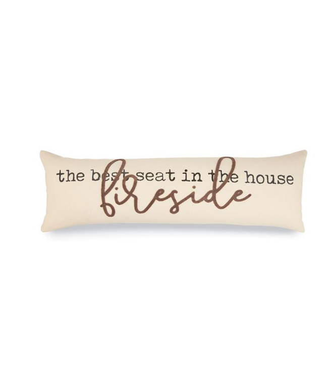 Mud Pie FIRESIDE LONG CANVAS PILLOW