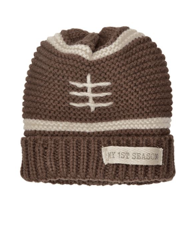 Mud Pie MY FIRST SEASON FOOTBALL KNITTED HAT