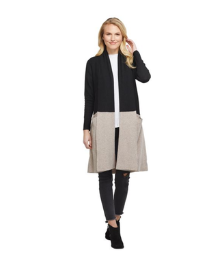Mud Pie FORD COLORBLOCK CARDIGAN BK SM