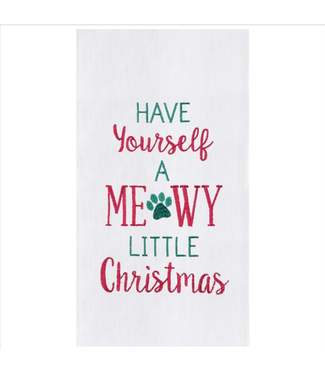 Meowy Christmas Towel
