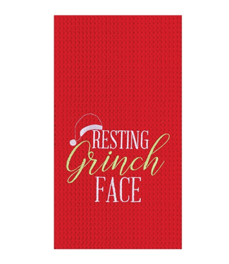 Resting Grinch Face Towel