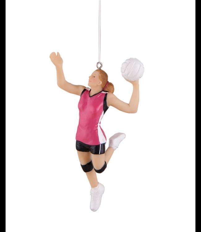 Girls Volleyball Ornament