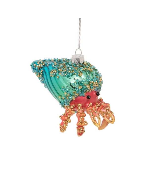 Hermit Crab Glitter Ornament