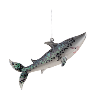 Glitter Shark Ornament