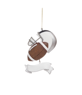 Football Banner Ornament