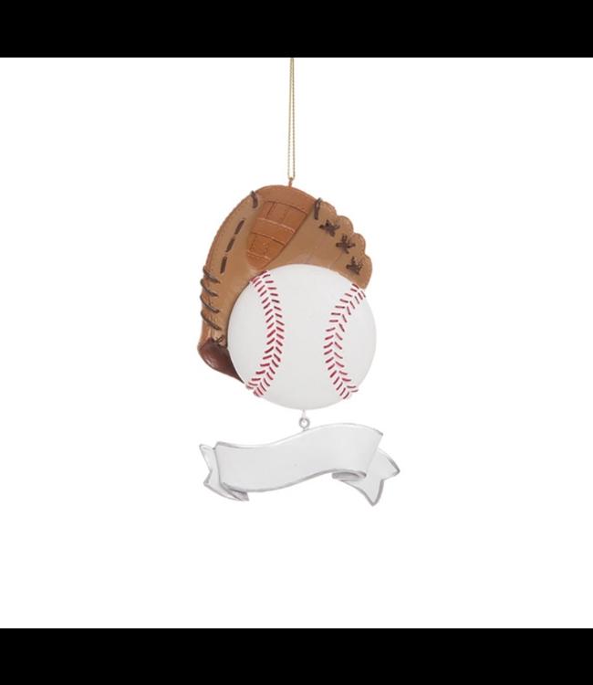 Baseball Banner Ornament